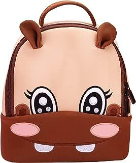 Toddler Baby Backpack 3D Waterproof Kindergarten Backpack Animal Preschool Backpack for Kids Girl Boy (Hippo)