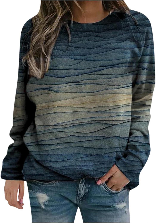 Womens Sweatshirts,Womens Retro Graphic Long Sleeve Shirts Casual Novelty T-Shirt Tee Tops Blouse