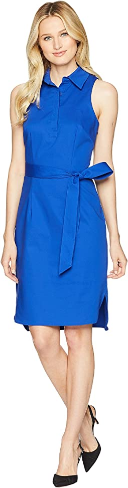 Sleeveless Sheath w/ Collar Dress