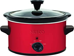 NESCO SC-150R, Oval Slower Cooker, Red, Ceramic, 1.5 quart, 120 watts