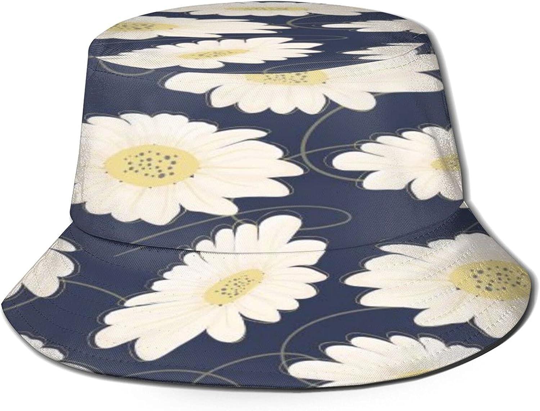 White Daisy Flower Bucket Hat Challenge the lowest price of Japan ☆ Sun Summer Under blast sales Fis Unisex Packable