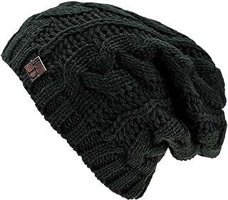 Luxury Divas Cable Knit Unisex Slouchy Beanie Cap Hat