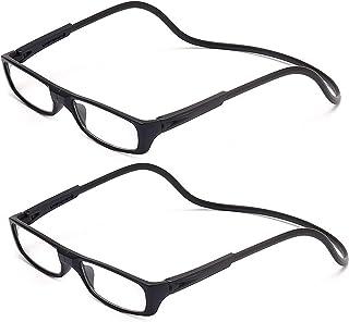 bc534e9c6f 2-Pack Gafas de Lectura Magnéticas Plegables para Hombre y Mujer +2.5 (60