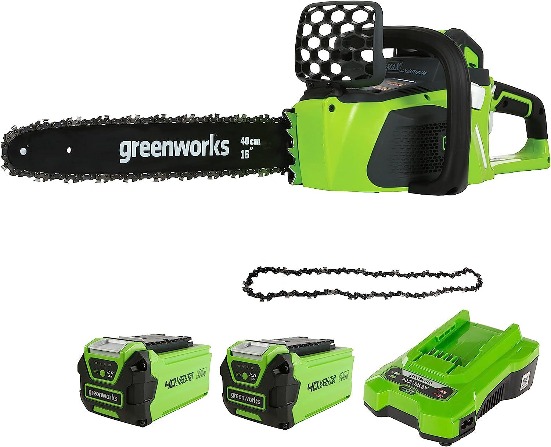 Greenworks Motosierra inalámbrica + Sierra Cadena 40 cm