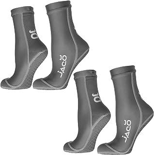 Jaco (2-Pairs) Hybrid Training Athletic Non Slip Socks for Men Women Running MMA Non-Skid Yoga Socks