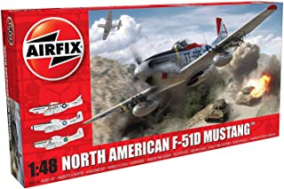 Airfix North American F-51D Mustang 1:48 Military Aviation Plastic Model Kit A05136