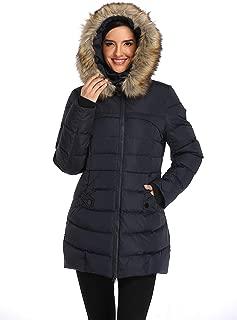 Old-to-new Women's Long Hooded Down Coat Puffer Parka Jacket Fur Down Outwear Winter Jacket