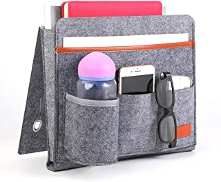 Siphodec Bedside Storage Organizer Bedside Caddy for Dorm Bed Remote Control Holder for Storage of Books, Magazines, Gl, R...