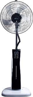PURLINE MISTY 2 - Ventilador Nebulizador humificador, ionizador con display LED, Acero, 85W, Blanco y Negro