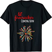 Fourth 4th July Fireworks Pregnancy Reveal T Shirt