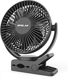 OPOLAR Clip Fan, 6700mAh Rechargeable Battery for Hurricane, USB or Battery Powered, Clip & Desk Electric Fan 2 in 1, Portable Small Handheld Fans, Quite for Office, Golf Cart, Car