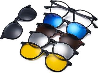 comprar comparacion Magnético 5 Piezas Polarizadas Clip en Gafas de Sol Marco Plástico Para Conducción Nocturna