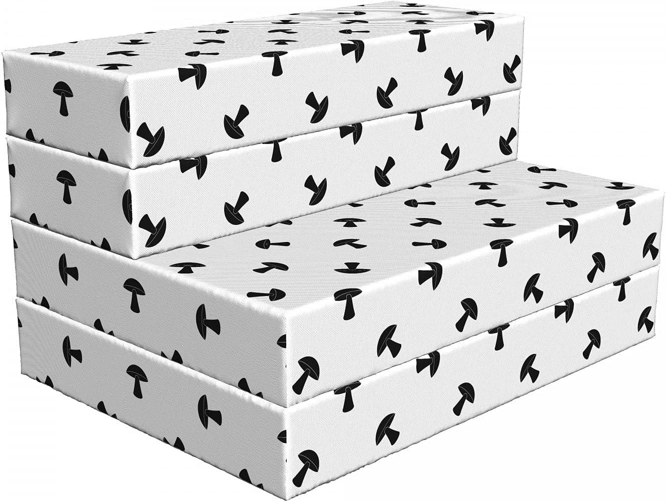 Year-end annual account Ambesonne Mushroom Foldable Mattress Max 59% OFF Black x 74.8