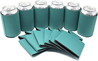TahoeBay 12 Can Sleeves for Standard Cans Blank Poly Foam Beer Insulator Coolers (Teal, 12)