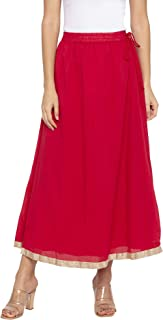 Globus Red Solid Skirts