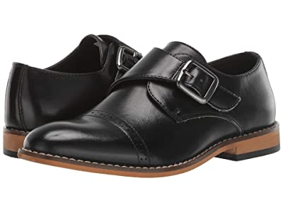 Stacy Adams Kids Desmond Cap Toe Monk Strap (Little Kid/Big Kid) (Black) Boys Shoes
