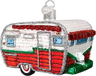 Old World Christmas Ornaments: Travel Trailer Glass Blown Ornaments for Christmas Tree