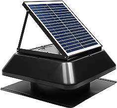 GBGS Solar Attic Fan 1750 CFM, IP68 Brushless DC Motor, Adjustable Solar Panel, 14 in 7 Fan Blades, 40db, Double Rust Free Anti-Aging, Easy Install, Size 23.6X23.6X9.8 in, 29 lb/Unit, 10 Years Warrant