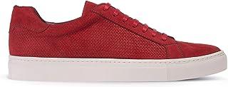 Deery Hakiki Süet Kırmızı Sneaker Erkek Ayakkabı - 01681MKRMC01