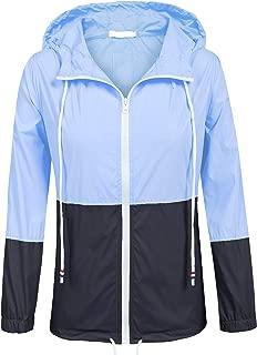 Women's Waterproof Raincoat Outdoor Hooded Rain Jacket Windbreaker (15 Colors S-XXL)