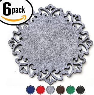 Coasters For Drinks Absorbent, Gray - Pretty & Functional Home Decor Absorb Moisture From Cold