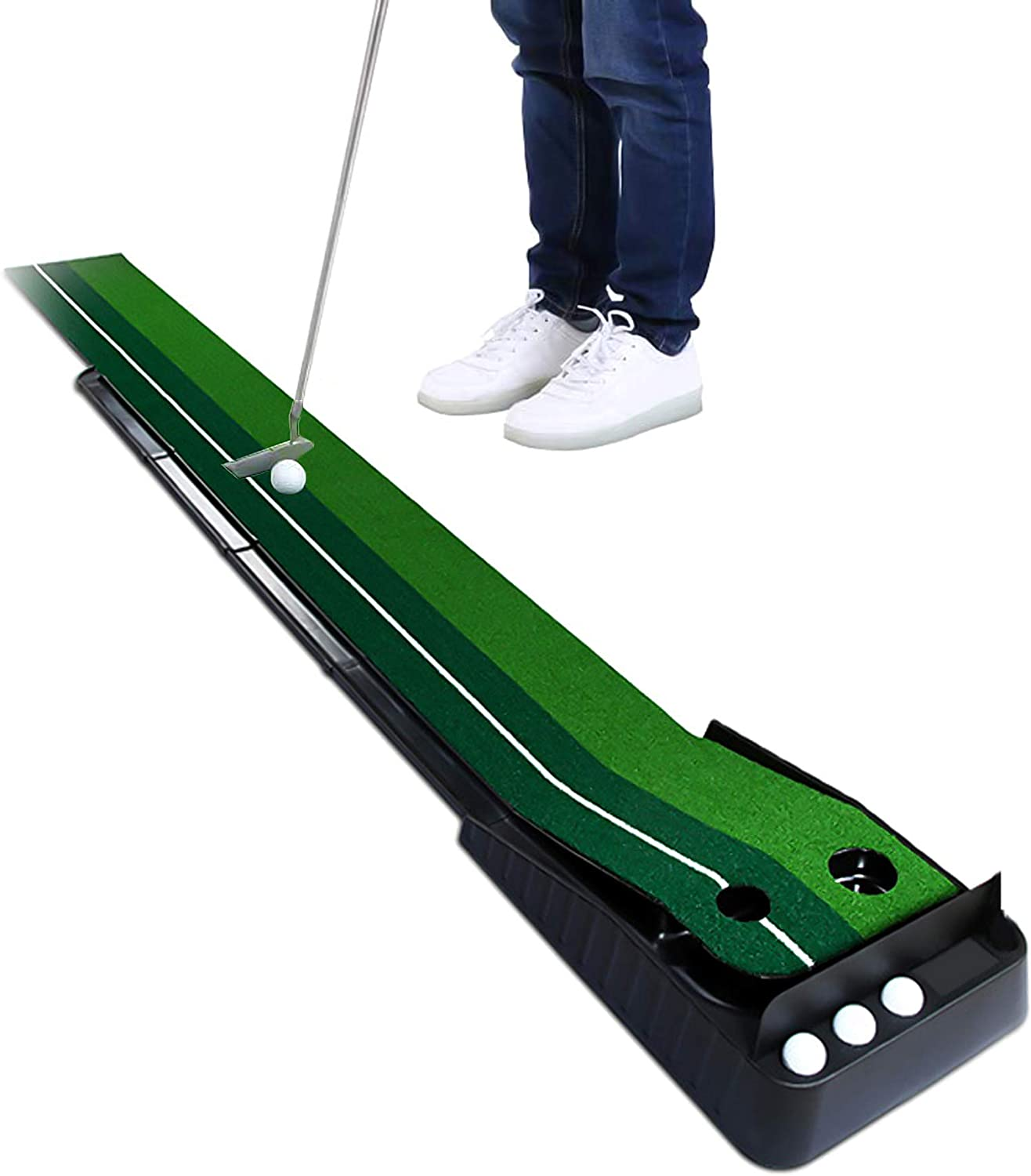 Sunbaca Indoor Outdoor Golf Mat Practice Putt Free shipping on posting reviews Limited time trial price Trainer