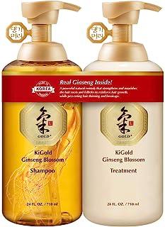 Daeng Gi Meo Ri Ki Gold Ginseng Blossom Shampoo & Treatment Set [Real Ginseng Inside!] 710ml + 710ml