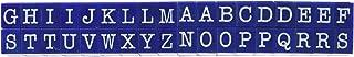 مجموعة طوابع الحروف الأبجدية الإنجليزية الكبيرة من 36 قطعة من Contact USA - لون أزرق داكن