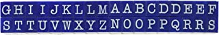 Contact USA Large 36-Piece American Typewriter Pegz Connectable Upperase Alphabet Stamp Set, Navy