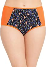 Clovia Women's Cotton High Waist Printed Hipster Panty with Powernet Wings