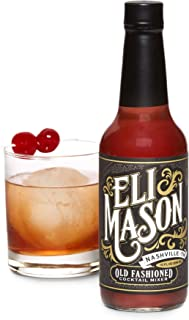 Eli Mason Old Fashioned Cocktail Mixer - All-natural Old Fashioned Cocktail Syrup - Uses Real Cane Sugar & Proprietary Blend Of Cocktail Bitters - Made In USA, Small Batch Cocktail Mixes - 10 Ounces