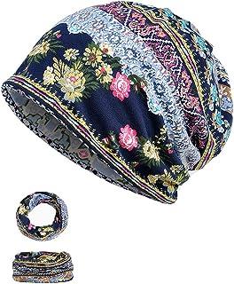 Women's Beanie Chemo Hat Infinity Scarf Head Wrap Cap