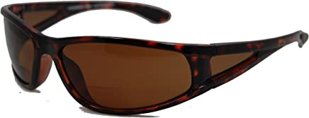 58b645f9792 In Style Eyes Del Mar Polarized Wrap Nearly Invisible Line Bifocal Sunglass  Readers