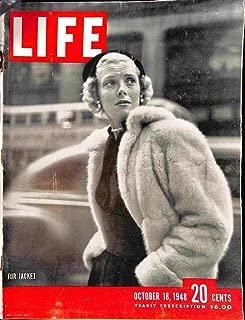 Life Magazine - October 18, 1948 - Woman in fur coat