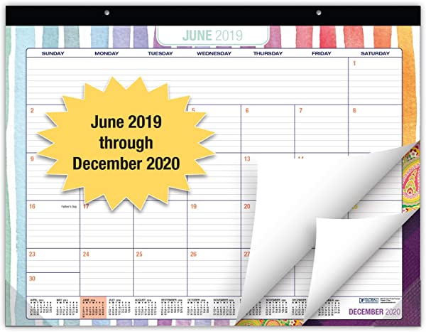 Desk Calendar 2019 2020 Large Monthly Pages 22 X17 Runs From June 2019 Through December 2020 Desk Wall Calendar Can Be Used Throughout 2020
