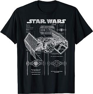 Star Wars TIE Fighter Blueprint Schematics Camiseta