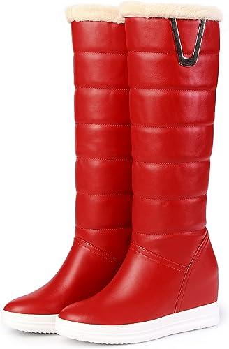 DYF Las damenes Zapato de Cabeza rotonda de Arranque de Farbe sólido de Fondo Plano de Gran tamaño Metal Caliente