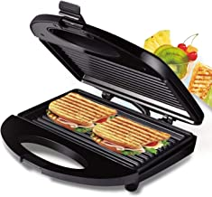 Sandwich and Waffle Maker with Non-Stick, Easy Clean Removable Plates, Automatic Temperature Control, 700 W, Black