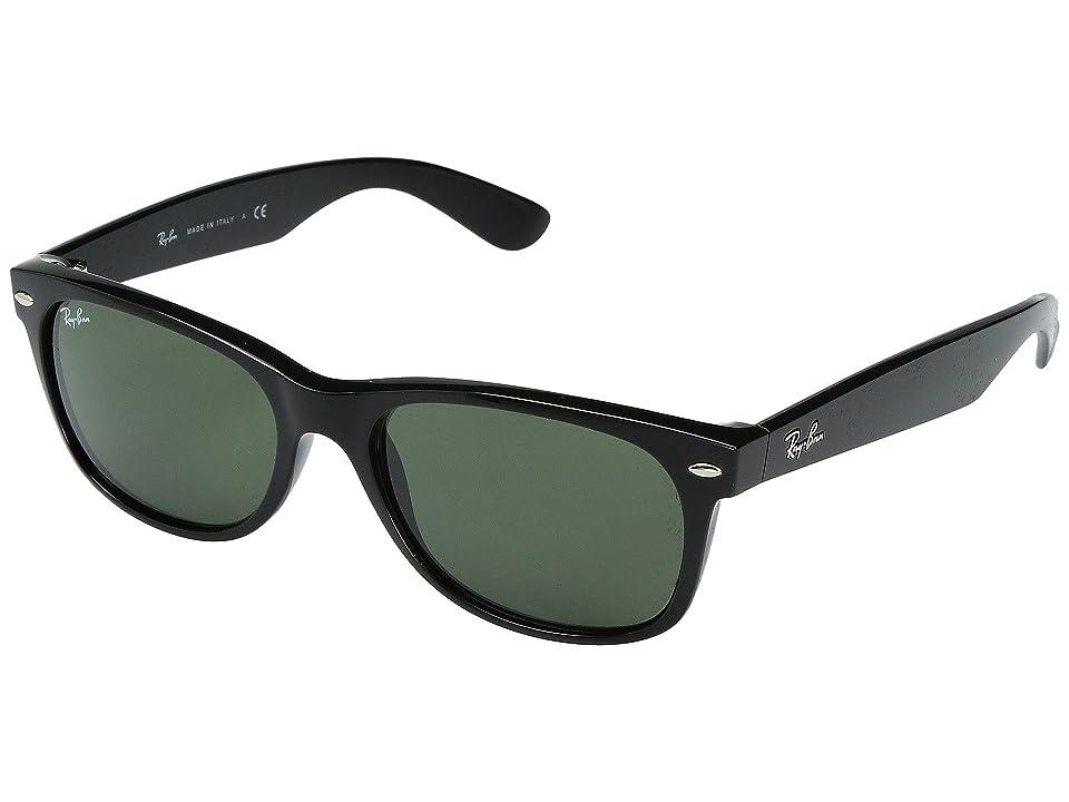 Ray-Ban RB2132 New Wayfarer 52mm (Black/G-15xlt Lens) Sport Sunglasses