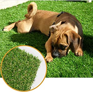 Griclner Artificial Grass Lawn Turf 3.3 FT x 5 FT(16.5 Square FT) 0.8inch Realistic Synthetic Grass Mat, Indoor Outdoor Garden Lawn Landscape for Pets,Fake Faux Grass Rug with Drainage Holes