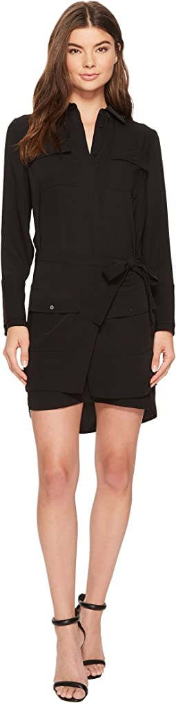 Laundry by Shelli Segal Crepe Shirtdress with Removable Skirt