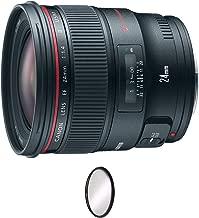 Canon EF 24mm f/1.4L II USM Lens + UV Protective Filter Combo (International Model)
