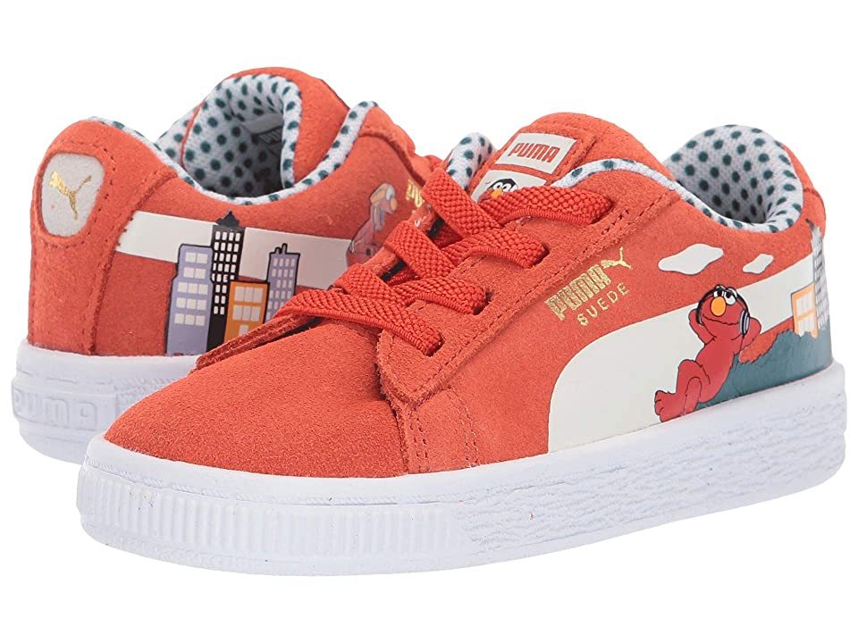 Puma Kids Sesame STR 50 Suede (Toddler) (Cherry Tomato/Puma White) Kids Shoes