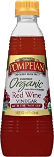 Pompeian Gourmet Organic Red Wine Vinegar, Unfiltered and Unpasteurized, Perfect for..