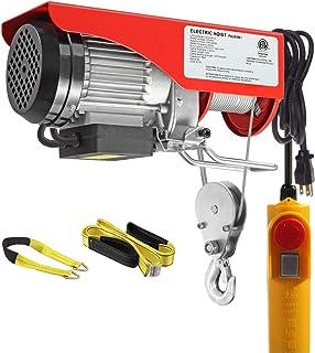 Partsam 440 lbs Lift Electric Hoist Crane Remote Control Power System, Zinc-Plated Steel Wire Overhead Crane Garage Ceilin...