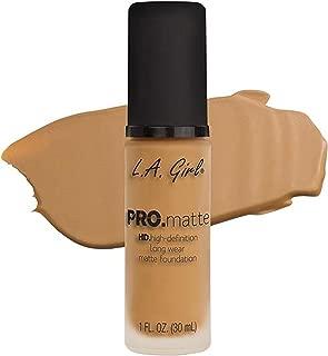 L.A.Girl HD Pro. Matte Foundation, Light Tan, 30 ml