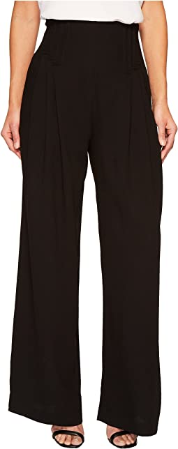 CATHERINE Catherine Malandrino - Deco Pleated Wide Leg Trousers