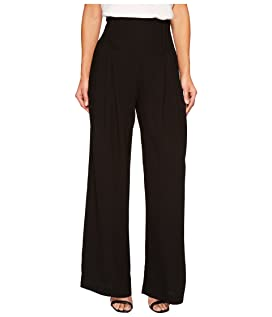 Deco Pleated Wide Leg Trousers
