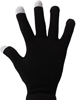 DURAGADGET Unisex Size Small Black Touch Screen Gloves with 3 Capacitive Fingertips for Wiko Rainbow, Wiko Getaway, Wiko Highway, Wiko Barry, ZTE Grand X in, Grand X & Panasonic Eluga