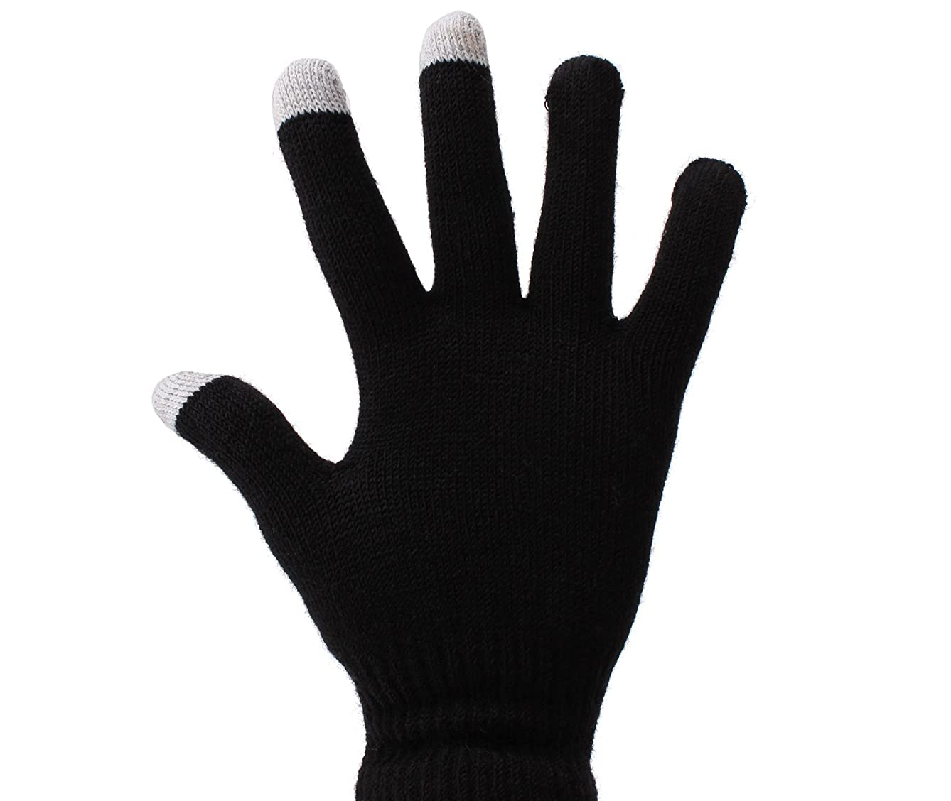DURAGADGET Small Black Conductive Touch Screen Gloves for BlackBerry Torch 9810 Unlocked GSM Phone with OS 7.0, Touchscreen